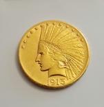 10 дол. США 1913г. золото 16,7 грамм 900, фото №2