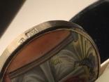 Икона Финифть Панагия Успение Богородицы 19 век, клеймо, фото №7