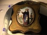 Икона Финифть Панагия 19 век Антоний Печерский, фото №5