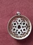 Серебряный кулон подвеска с самоцветами, фото №4