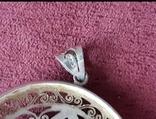 Серебряный кулон подвеска с самоцветами, фото №9
