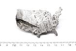 Залізний метеорит Aletai, карта США USA, 108,6 грам, із сертифікатом автентичності, фото №4