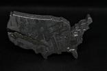 Залізний метеорит Aletai, карта США USA, 108,6 грам, із сертифікатом автентичності, фото №2