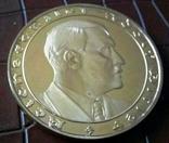 Медаль 1933 року Німеччина. Копія пробної. Позолота 999, фото №2