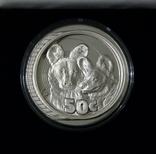 Южная Африка. ДИКАЯ ПРИРОДА - ГИЕНЫ - серебро 76,25 грамм - полный комплект, РЕДКАЯ, фото №2