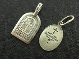 2 серебряные иконки., фото №3