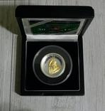 Год Петуха - Высокий Рельеф - серебро 999 позолота -  тираж 500 шт. РЕДКАЯ, фото №4