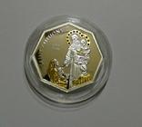 Святой Антоний - серебро, позолота, кристаллы Сваровски, фото №2