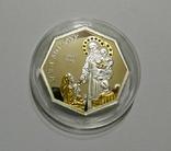 Святой Антоний - серебро, позолота, кристаллы Сваровски, фото №3
