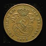 Бельгия 2 сантим 1875, фото №3