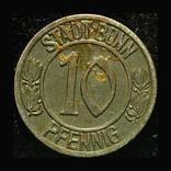 Германия Бонн 10 пфеннигов 1920 Бетховен, фото №3