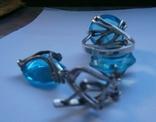 Набор серебряный 925 пробы цирконий, фото №4