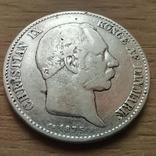 2 крони 1875 р.Данія, фото №2