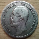 2 крони 1876р.Швеція, фото №3