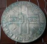 1 рубль 1723 року .  Копія, не магнітна,  посрібнення 999, фото №2