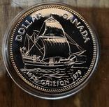 Канада 1 доллар 1979 г. Серебро. 100 лет со дня первого плавания корабля Гриффон, фото №2