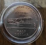 США 50 центов 2003 г. 100-летие первого полета. Национальный мемориал братьев Райт., фото №2