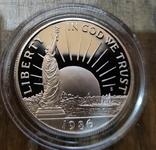 США 50 центов 1986 г Статуя Свободы. Пруф, фото №2
