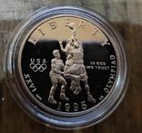 США 50 центов 1995 г. Баскетбол. XXVI Летние Олимпийские игры 1996 года в Атланте., фото №2