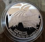 США 1 доллар 2005 г. 250-летие со дня рождения Джона Маршалла. Серебро. Пруф, фото №3