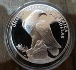 США 1 доллар 1984 г. Серебро., фото №2