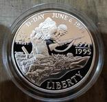 США 1 доллар 1993 г. D-Day, Военное дело, Вторая мировая. Пруф, фото №2