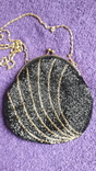 Сумочка з чорним бісером, фото №2