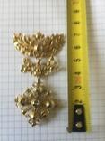 Старинное украшение, золото и алмазы, фото №5