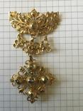 Старинное украшение, золото и алмазы, фото №8