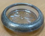 Пепельница серебро + стекло, фото №2