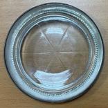 Серебряная пепельница со вставкой из стекла, фото №4