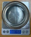 Серебряная пепельница со вставкой из стекла, фото №7