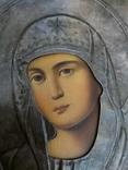 Икона Пресвятая  Богородица праворучица , в серебряном окладе, фото №5