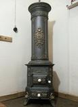 """Пічка ор. 1850 року з гербом заводу """"Залізний молот"""" графа Шенборна. Буржуйка., фото №2"""