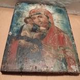 Икона Пресвятой Богородицы матери  божьей,19 век., фото №11
