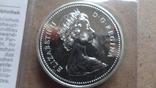 1 доллар 1976 Канада Открытие Национальной библиотеки Сертификат серебро, фото №6