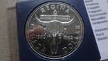 1 доллар 1982 Канада Реджайна Сертификат серебро, фото №3
