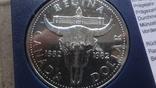 1 доллар 1982 Канада Реджайна Сертификат серебро, фото №4