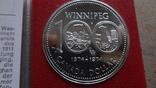 1 доллар 1974 Канада Виннипег Сертификат серебро, фото №3