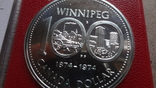 1 доллар 1974 Канада Виннипег Сертификат серебро, фото №4
