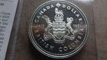 1 доллар 1971 Канада Британская Колумбия Сертификат серебро, фото №3