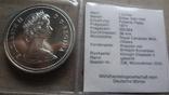 1 доллар 1971 Канада Британская Колумбия Сертификат серебро, фото №6