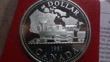1 доллар 1981 Канада Трансконтинентальная железная дорога Сертификат серебро, фото №4