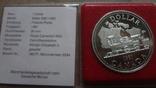 1 доллар 1981 Канада Трансконтинентальная железная дорога Сертификат серебро, фото №5