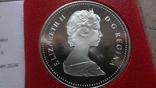 1 доллар 1981 Канада Трансконтинентальная железная дорога Сертификат серебро, фото №7