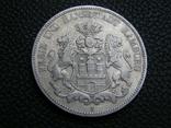 5 марок 1876 J Гамбург, фото №2