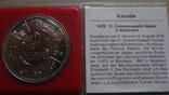 1 доллар 1978 Канада Олимпиада Сертификат серебро, фото №2