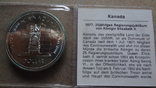 1 доллар 1977 Канада 5 лет коронации Елизаветы II Сертификат серебро, фото №2