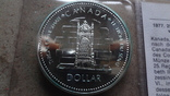 1 доллар 1977 Канада 5 лет коронации Елизаветы II Сертификат серебро, фото №3
