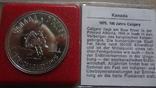 1 доллар 1975  Канада Калгери  Сертификат серебро, фото №2